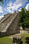 Archaeological Photos - Chichen Itza Pyrmid 1 by Douglas BarnettTalum
