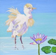 Phyllis Kaltenbach - Chick and  Water Lily