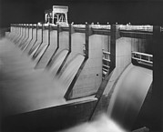 Projects Prints - Chickamauga Dam, Built By The Tennessee Print by Everett