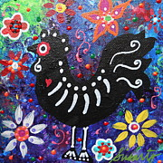 Dead Chicken Prints - Chicken Day Of The Dead Print by Pristine Cartera Turkus
