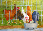 Dinner Painting Originals - Chicken Dinner by Cris Weatherby