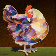Abstracted Painting Metal Prints - Chicken from Jamestown Metal Print by Bob Coonts