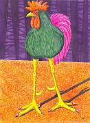 Humor Painting Prints - Chicken Legs Print by Catherine G McElroy
