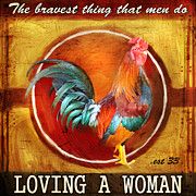 Brave Mixed Media Metal Prints - Chicken Little Metal Print by Joel Payne