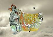 Chicken Pie Print by Sarah King