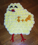 Pet Tapestries - Textiles - Chicken by Pomponino Pomponino