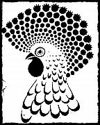 Chicken Tattoo  Print by Paulo Zerbato
