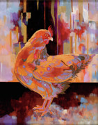 Abstract Realism Painting Posters - Chickenscape I Poster by Bob Coonts