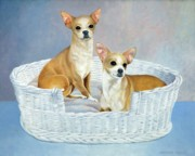 Bethany Windham Engle Art - Chico and Pepe by Bethany Windham Engle