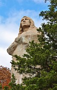 Oregon Illinois Photos - Chief Blackhawk Statue by Bruce Bley