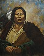 Plains Indian Paintings - Chief Gall by Harvie Brown