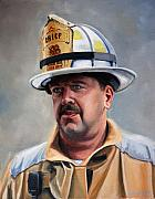 Firefighting Prints - Chief Garrahy Print by Paul Walsh