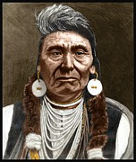 Cheif Prints - Chief Joseph Print by Dan White