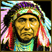 Contemporary Portraits. Prints - Chief Joseph Print by Gary Grayson