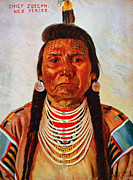 Nez Perce Prints - Chief Joseph, Nez Percé Chief Print by Everett