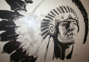 Chief Drawings Originals - Chief by Melissa Wiater Chaney