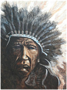 Comanche Paintings - Chief Sad Truth by Kenneth McGarity