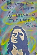 Conservative Painting Framed Prints - Chief Sealth Framed Print by Tony B Conscious