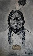 Medicine Painting Prints - Chief Sitting Bull Print by Eddie Lim