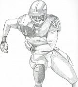 Athletes Drawings - Chiefs Dante Hall by Nathan Denham II