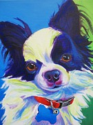 Dawgart Framed Prints - Chihuahua - Esso-Gomez Framed Print by Alicia VanNoy Call