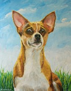 Chiwawa Paintings - Chihuahua by Daniel W Green
