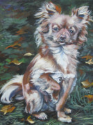 Chihuahua Paintings - Chihuahua long haired by Lee Ann Shepard