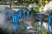 Trees Glass Art - Chihuly Blue Fog by Cheryl McClure