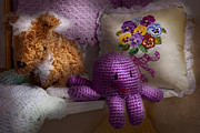 Octopuses Photos - Child - Toy - Octopus in my closet  by Mike Savad