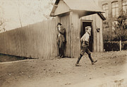 Huntsville Framed Prints - Child Goes to Work at Mill in Alabama - 1910 Framed Print by International  Images