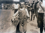 Overalls Posters - Child Labor, Bootblack Near Trinity Poster by Everett