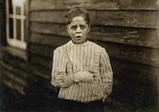 1910s Portrait Prints - Child Labor, Giles Edmund Newsom, While Print by Everett