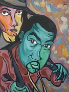 Kanye West Paintings - Child Like Innocence  by Jason JaFleu Fleurant