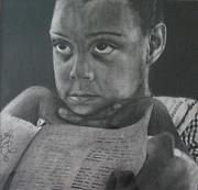 Haiti Drawings - Child listening to Story by Rebecca  Both