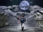 Surreal Photos - Child Of The Moon by Joachim G Pinkawa