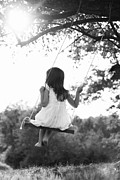 Swings Framed Prints - Child on Swing Framed Print by Stephanie Frey