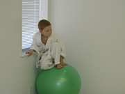 Dojo Framed Prints - Child on the Ball Framed Print by Theron Larroquette