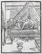 European Artwork Framed Prints - Childbirth, 17th Century Artwork Framed Print by Middle Temple Library