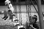 Swingset Framed Prints - Childhood Framed Print by Peter  McIntosh