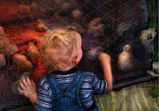 Overalls Art - Children - Look at the baby by Mike Savad