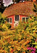 Youth Photo Prints - Children - The Childrens Cottage Print by Mike Savad