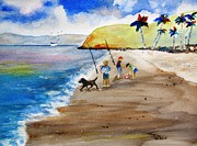 Nautical Paintings - Children Fishing by Carlin Blahnik