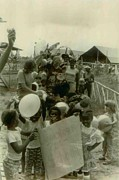 Integration Prints - Children From The Jonestown Pre-school Print by Everett