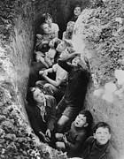 Civilians Photos - Children In An English Bomb Shelter by Everett