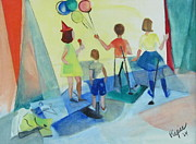 The 60s Paintings - Children in Commerce 1964 by Betty Pieper