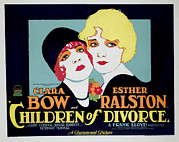 Lobbycard Prints - Children Of Divorce, Clara Bow, Esther Print by Everett