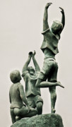 Hope Sculpture Prints - Children of Hope Close Up Print by Michael Rutland
