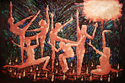 Famous Mixed Media Metal Prints - Children Of The Light Metal Print by Anthony Falbo