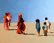 Sinai Prints - Children of the Sinai Print by Kurt Van Wagner