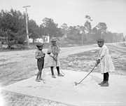 Playing Golf Prints - Children playing Golf Print by Stefan Kuhn